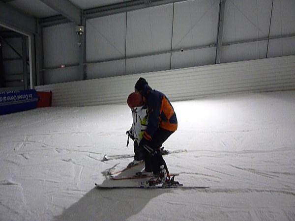 moniteur de ski en salle initiation ski en salle apprendre ski